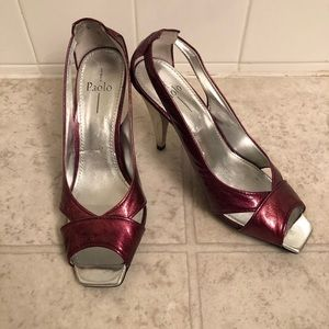 Paolo Open Toe Patent Leather Shoes